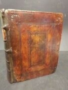 1620 King James Bible Leather Binding Patand039d In London By Barker And Bill