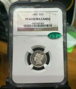 1869 3 Cents Coin Ngc Pf 64 Ultra Cameo Low Pop 3 Cn Us Coin Rare Investment