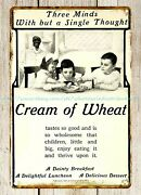 Bedroom Decorating Ideas Cream Of Wheat 1906 Cereal Ad Metal Tin Sign
