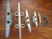 6 Chrome And Iron Vintage Boat Cleatsandnbspall Sizes