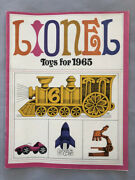 1965 Lionel Toy Trains And Racing Sets Catalog Vintage Original Advertising Good
