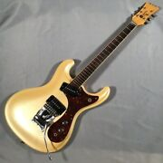 Used Mosrite Of Classic Vm 65 Model Gold Electric Guitar Free Shipping