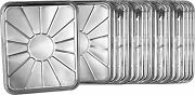 50 Pack Disposable Foil Oven Liners Aluminum 18 X 15 Silver Drip Pan Tray