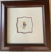 Winnie The Pooh Walt Disney Color Etching-signed Certified Original Registered
