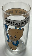 Antique 1966 Arby's Porky Pig Glass - Graphics In Great Shape Vintage Glass