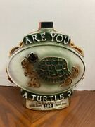 Jim Beam Are You A Turtle And How Sweet It Is Decanter 1975 100 Month Old Whiskey