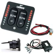 Lenco Marine 15271-001 Led Indicator Two-piece Tactile Switch Kit Pigtail Dual