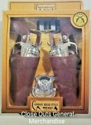 Toy Cowboy 2pc Plastic Gun Pistols Wild West Play W/badge And Holsters
