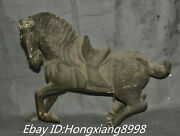18andrdquo Old China Pure Silver 12 Zodiac Animal Horse Horses Steed Maxima Statue
