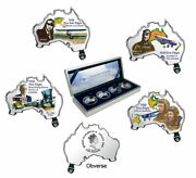2003 Silver 1oz Tuvalu Pioneers Of Aviation 4 Coin Proof Set Rare Set