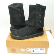 Ugg Australia Cardy Classic 5819 Women's Black Boots Us Size 7 Excellent In Box