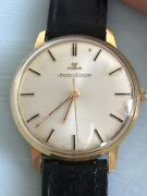 Jaeger-lecoultre Vintage Menand039s 18k Gold Hand-wind Dress Watch C.1960s