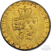1792 Great Britain 1 Guinea Gold Coin .24 Ozt .916 Fine Gold George Iii 18322