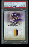 2007 Playoff National Treasures Adrian Peterson /25 Gold Rpa Psa 9 Mint Auto Rc