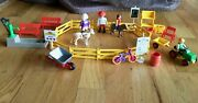 Vintage 1993 Playmobil Pony Ranch 3775 Fencing Ponies People And Accessories