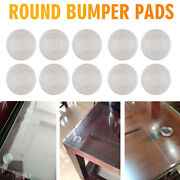 50pcs Soft Small Clear Round Glass Table Top Bumpers Hardware Anti Slip Home