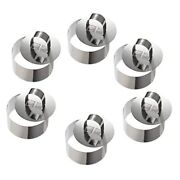 30xmousse S Stainless Steel Cake Circle Cake Mold With Pusher 8cm Diameter Set