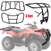 Front Bumper And Front And Rear Rack Rear Carrier For Honda Recon 250 Trx 250 07-16