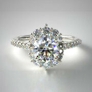 1.00 Ct Natural Diamond Wedding Ring For Valentine Solid 14k White Gold Size 7 8