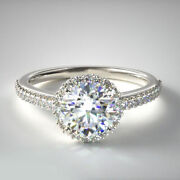 Solid 14k White Gold 0.75 Ct Natural Diamond Wedding Ring For Valentine Size 7 8