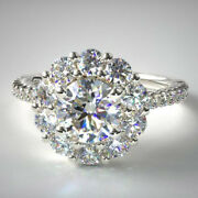 Excellent Round 1.50 Ct Real Diamond Wedding Ring Solid 950 Platinum Size 7 8 9