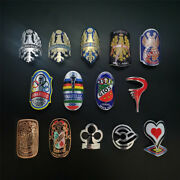 Road Bike Mtb Bmx Bicycle Metal Alloy Head Badge Decals Frame Stickers