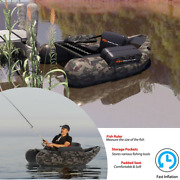 Inflatable Boat Fly Fishing Pontoon Adult Lakes Rivers Tools Storage Fish Ruler