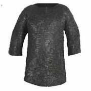 Xl Size Chain Mail Armor Mild Steel Wedge Riveted Chainmail Shirt Reenactment
