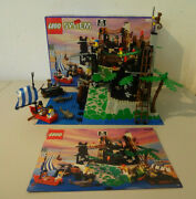 Go Lego 6273 Rock Island Refuge Pirates With Boxed And Ba Used Figurines Boat