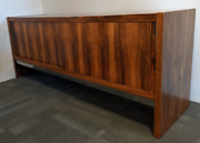 Merrow Associates Rosewood And Leather Sideboard - Vintage Mcm 1970and039s