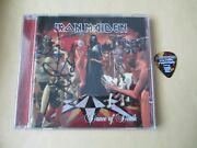 Iron Maiden Dance Of Death Cd Signed By Nicko Mcbrain + Janick Gers 2011 Ff Pick
