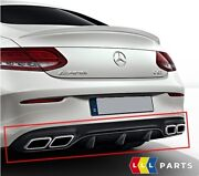 Oem Genuine Mercedes Benz Mb C63 C205 Amg Rear Bumper Diffuser Black With Pipes