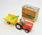 C0010 Telsalda Friction Drive Farm Tractor And Trailer Virtually Mint/boxed