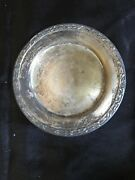 Oneida Ltd Wma Rogers Meadowbrook Silver Plate 2pc 5.5andrdquo Saucer 12andrdquo Serving Tray