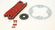 03-07 Honda Sportrax 300ex Trx300ex Non O-ring Red Chain And Silver Sprocket 12/39