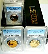 Collection Of 16 Proof Native American Sacagawea Dollar Pcgs Pr69 Dcam-2000-2015