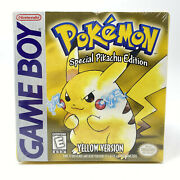 Pokemon Yellow Version - Special Pikachu Edition Game Boy Brand New - Sealed