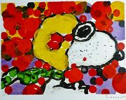 Tom Everhart Synchroniser My Boogie-morning Peanuts Snoopy Main Signandeacutee Litho