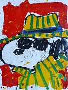 Tom Everhart Itand039s The Chapeau That Fait The Dude Snoopy Peanuts Main Signandeacutee