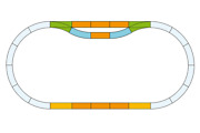 G Scale Piko America Station Track Set