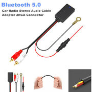 Bluetooth 5.0 Car Radio Stereo Audio Cable Adapter 2rca Connector Music Aux Kit