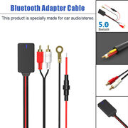 Bluetooth Aux Audio Stereo Music Home Car Receiver Adapter Cable 2 Rca Connector