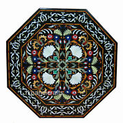 Cottage Handicrafts Marble Dining Table Top Luxurious Hotel Table Size 42 Inches