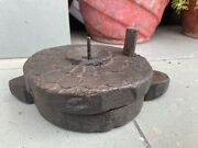 1700 Andlsquos Ancin Old Wooden Hand Carved South Indian Chakki Flour Mill Toy Model