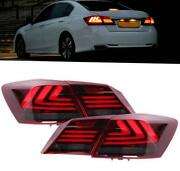 For 14-17 Honda Accord G9 Led Strip Tail Lights Rear Lights Auto Accessories