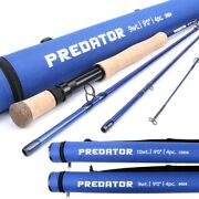 Predator 9ft Saltwater Fly Fishing Rod 8/9/10/11/12wt Fast Action Im8 Carbon