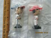 2 Vntg Minibobble Heads - 25 Glaus, Angeles And 29 Snoltz, Braves.nib Postcereal