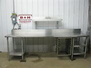 120 Heavy Duty Stainless Steel Work Table Under And Over Shelf Sheet Pan Rack 10and039