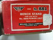 Miller Falls Tools 881 Bench Stand For 888 Dyno Mite Pwr Unit