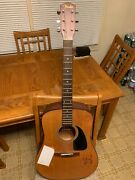 Black Crowes Autographed Fender Acoustic Guitar Chris And Rich Robinson, Marc Ford